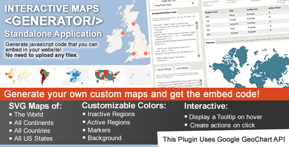 Interactive Maps Generator Preview