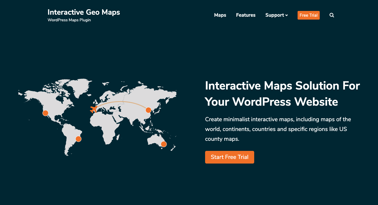 Homepage for Interactive Geo Maps plugin